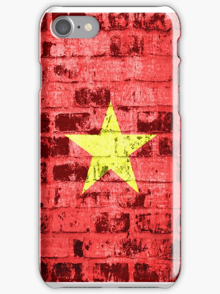 Vietnam Flag Vintage by Nhan Ngo