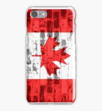 Canada Flag Vintage iPhone Case/Skin