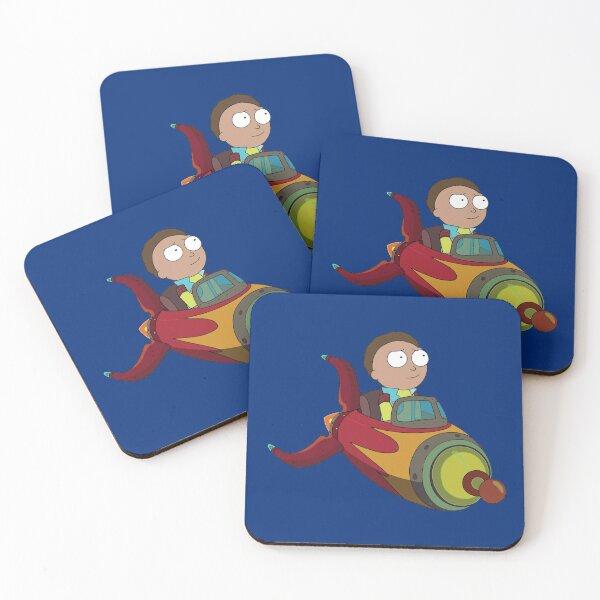 Rocket Morty Coasters (Set of 4)