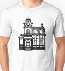Victorian House - black & white T-Shirt