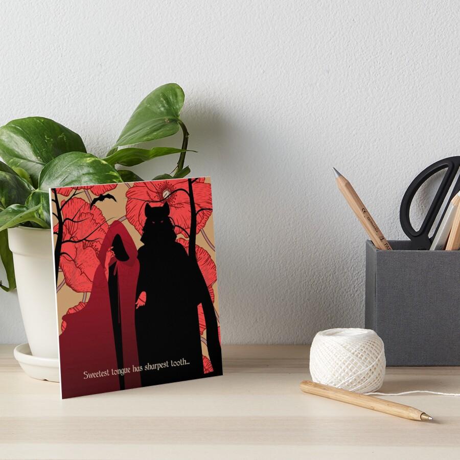 Little Red Riding Hood Art Board Print