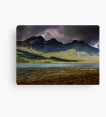 Thre House under the Cuillin Canvas Print