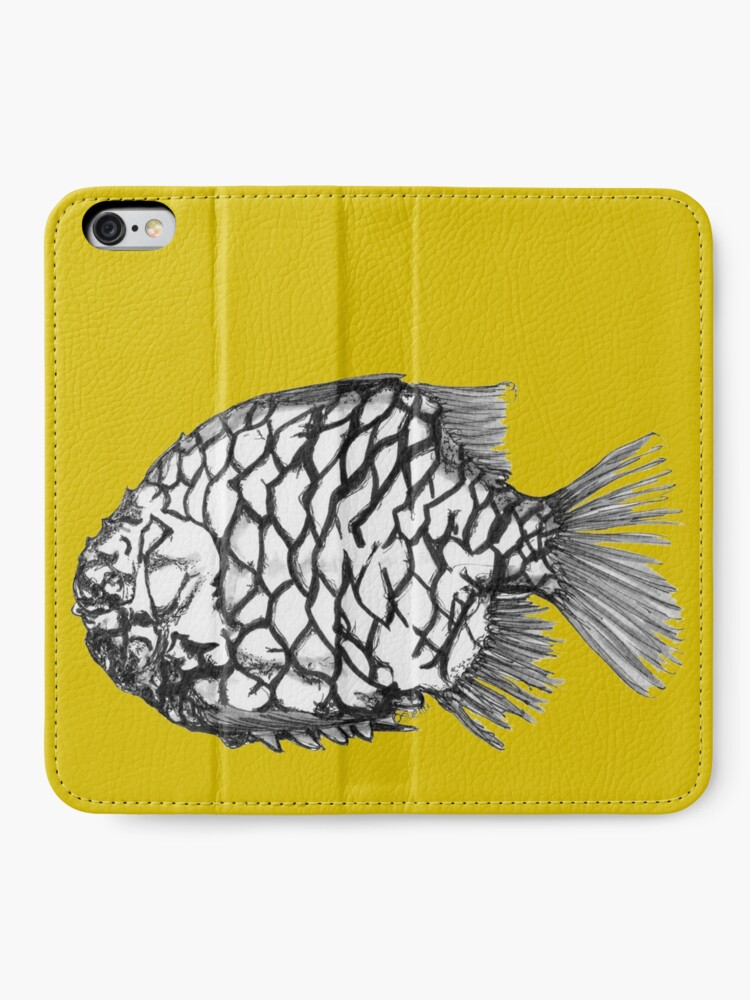 Alternate view of Bridget the Pineapple Fish iPhone Wallet