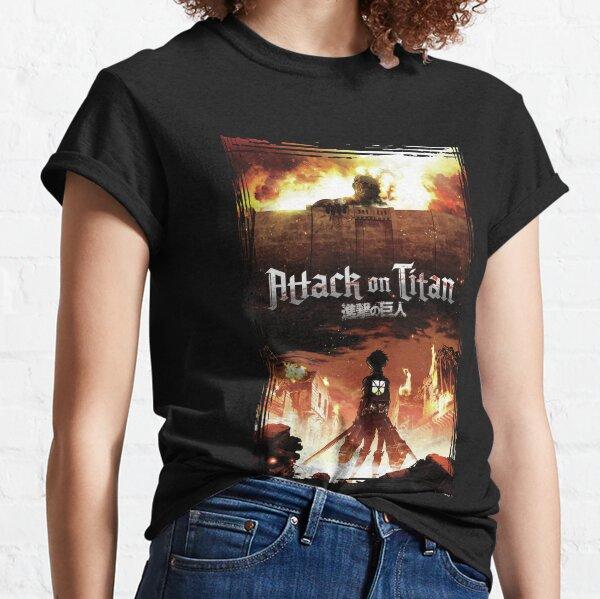 Vintage attack on titan's Anime Black classic T-Shirt Classic T-Shirt