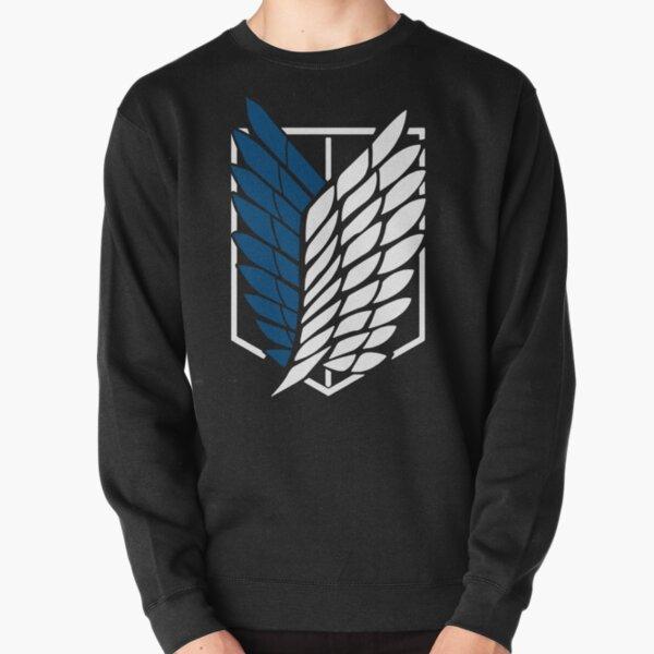 Vintage attack on titan's Logo Anime Black classic T-Shirt Pullover Sweatshirt
