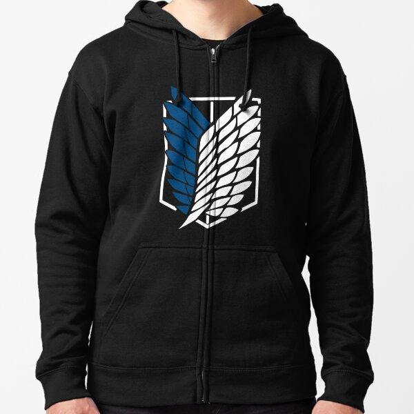 Attaque vintage sur le Titan's Logo Anime Black T-shirt classique Veste zippée à capuche