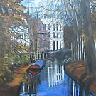 Canals of Utrecht, Holland, C 1300 by Jsimone