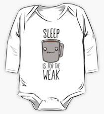 Schlaf ist für die schwachen Langärmeliger Einteiler