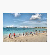 The Beach at Arawak Cay in Nassau, The Bahamas Photographic Print
