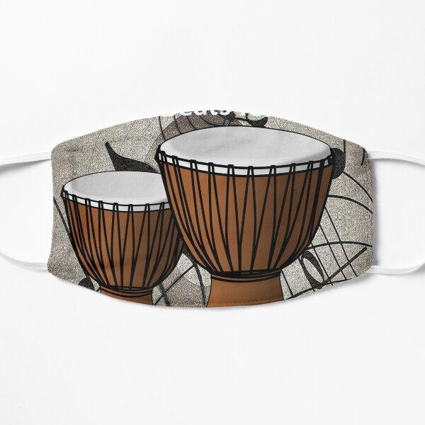 Bongos, African Beats, Music Beats for Life Flat Mask