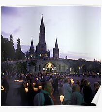 Sanctuary of Lourdes, France 2005 Poster