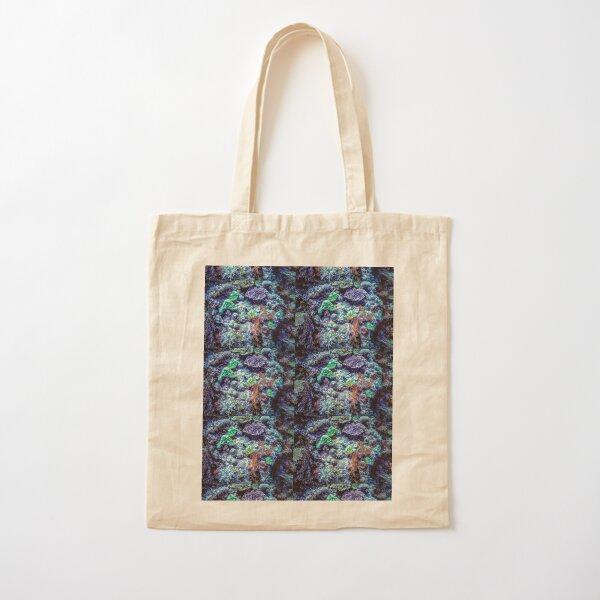 Coral Reef Diversity Deep Blue Sea - Mixed Media DiveArt Cotton Tote Bag