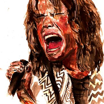 Steven Tyler Watercolour by georgestow