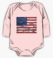 American Flag Vintage One Piece - Long Sleeve