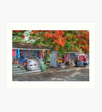 Tourist Shops at Fort Charlotte in Nassau, The Bahamas Art Print