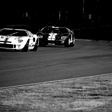 Ford GT40 Battle @ Goodwood Revival 2012 by Lynchie