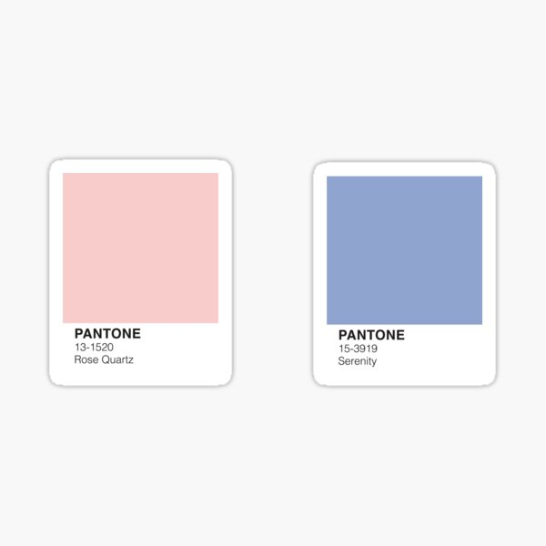 rose quartz and serenity Sticker
