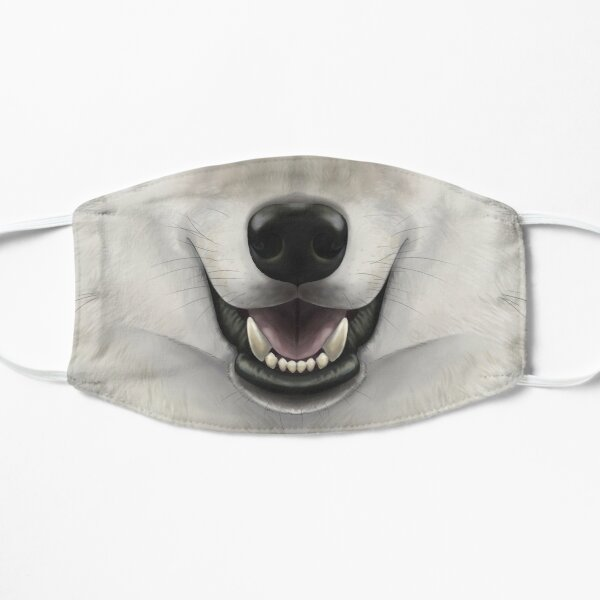 Gray Wolf Face Mask