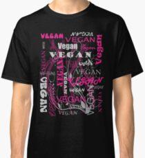 Vegan Type - pink Classic T-Shirt