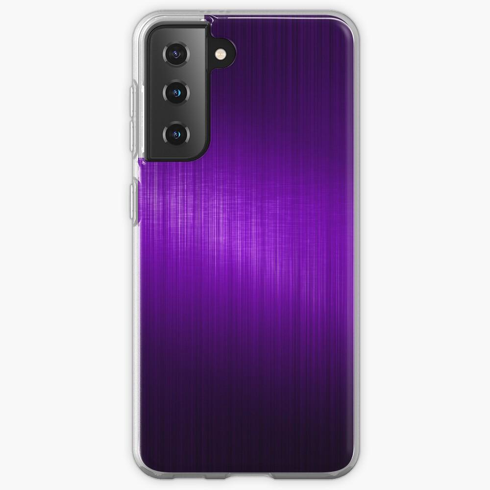 Purple Brushed Aluminum Metallic Look Case & Skin for Samsung Galaxy