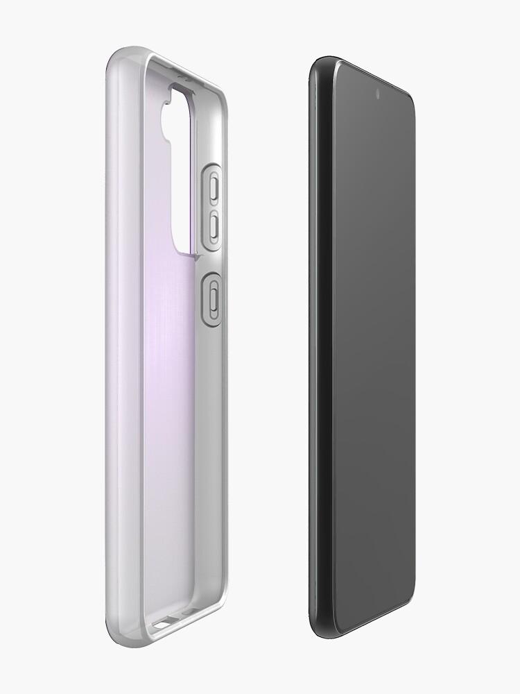 Alternate view of Purple Brushed Aluminum Metallic Look Case & Skin for Samsung Galaxy