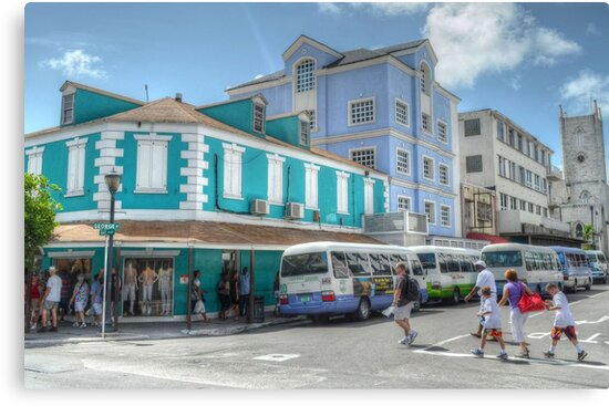 Quot Bay Street Amp George Street In Downtown Nassau The