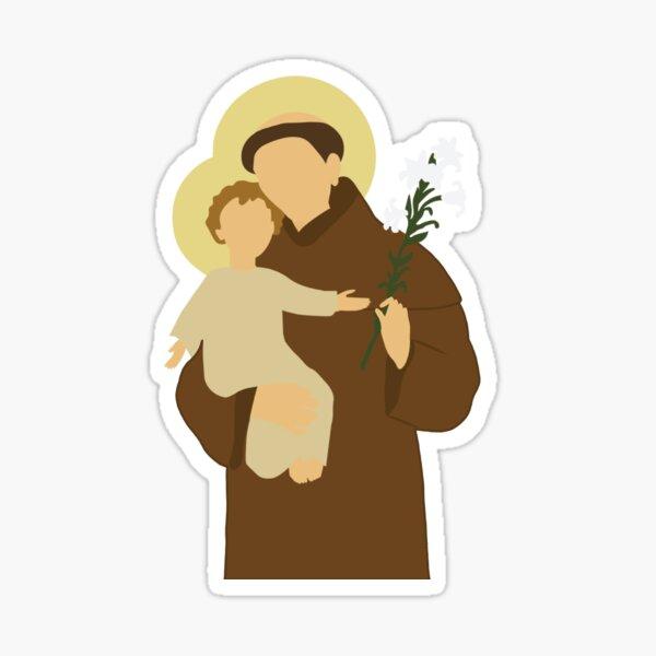 St. Anthony of Padua Glossy Sticker