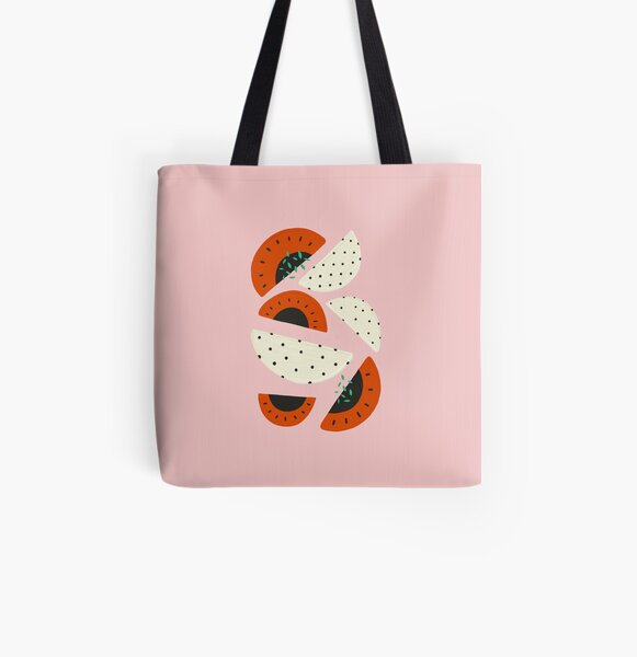 Abstract watermelon All Over Print Tote Bag
