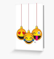 Emoji Christmas Greeting Card