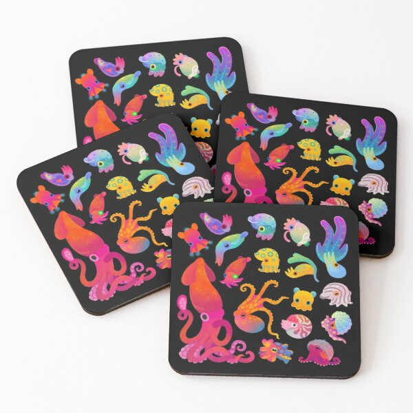 Cephalopod Coasters (Set of 4)