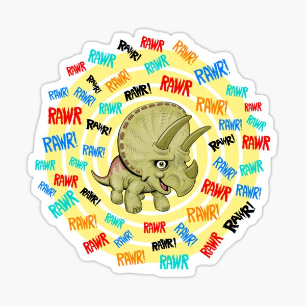 Triceratops Rawr  Sticker