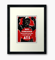 Join The A.T.S. -- WWII Propaganda Framed Print