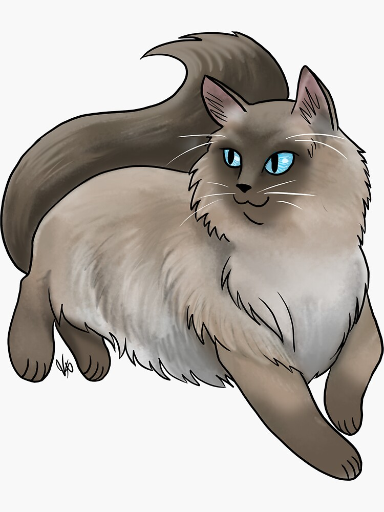 Ragdoll Cat - Brown and Tan by jameson9101322