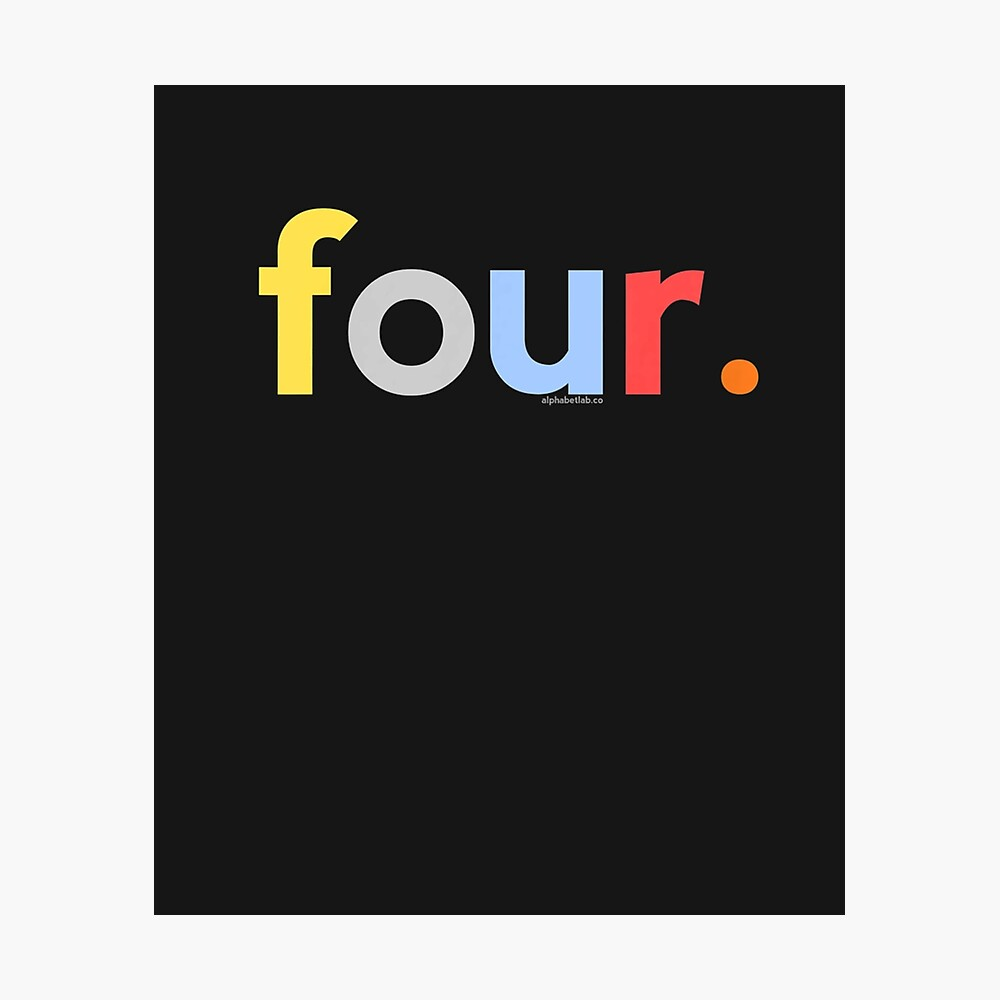Kids 4th Birthday For Boys 4 Four Age 4 Gift Ideas Poster By Parkergravis Redbubble