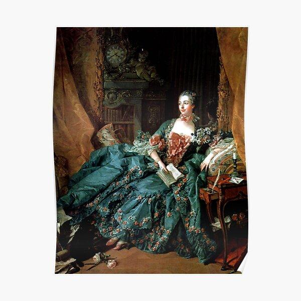 Madame de Pompadour, by Boucher, Francois  Poster