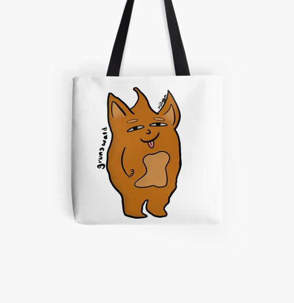 Grunswald Cute Monster All Over Print Tote Bag