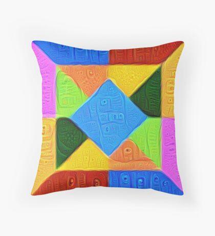 DeepDream Color Squares Visual Areas 5x5K v1447926834 Throw Pillow