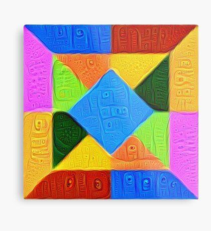 DeepDream Color Squares Visual Areas 5x5K v1447926834 Metal Print