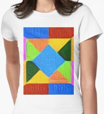 DeepDream Color Squares Visual Areas 5x5K v1447926834 Fitted T-Shirt