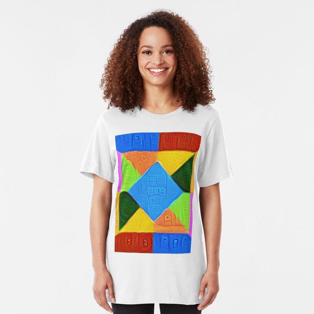 DeepDream Color Squares Visual Areas 5x5K v1447926834 Slim Fit T-Shirt