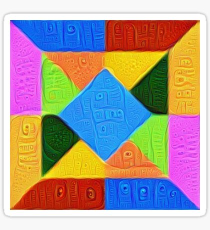DeepDream Color Squares Visual Areas 5x5K v1447926834 Sticker