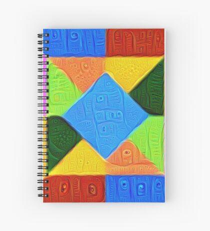 DeepDream Color Squares Visual Areas 5x5K v1447926834 Spiral Notebook