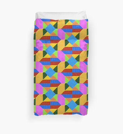 DeepDream Color Squares Visual Areas 5x5K v1447926834 Duvet Cover