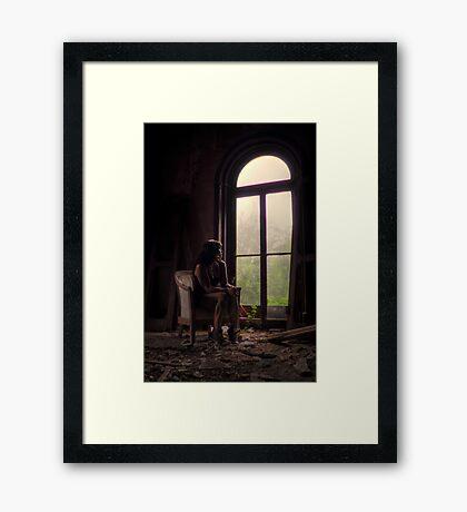Self Portrait- Abandoned Mansion Framed Print