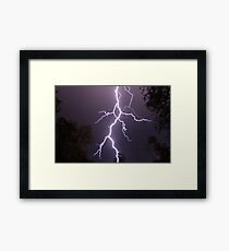 Lightning up close Framed Print