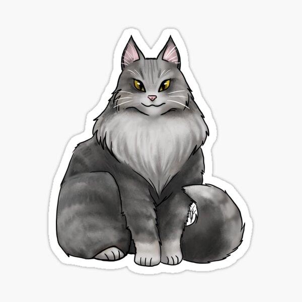 Mane Coon Cat - Gray Sticker
