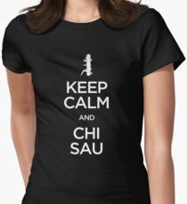Keep Calm and Chi Sau (Wing Chun) - Light Womens Fitted T-Shirt