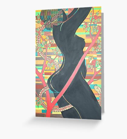 Forbidden Fruit: The Fall of Eve In The Garden Of Eden Greeting Card