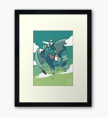 Cocoa Dragon Framed Print