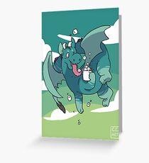 Cocoa Dragon Greeting Card